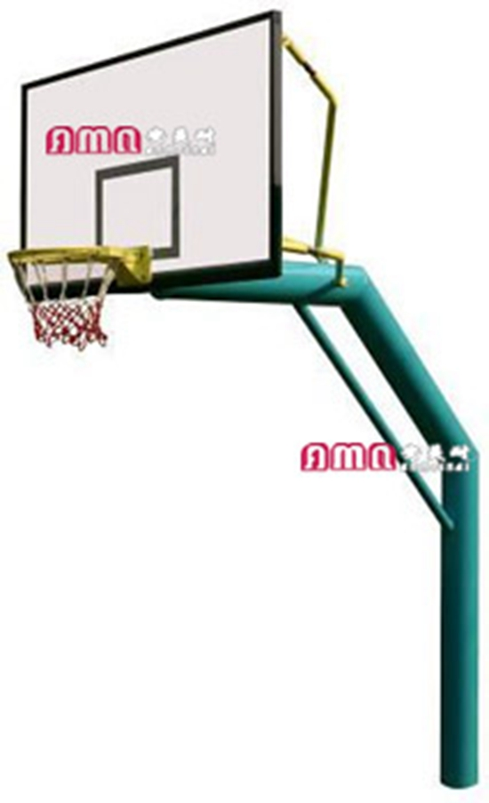 型号:ZZRS-12003 单柱地埋篮球架