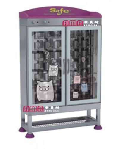 ZZRS-15109 不锈钢材质,环保、健康、使用寿命长;带消毒功能,每天消毒一次,更卫生。小猪猪不锈钢茶杯架72 27 134cm 42位