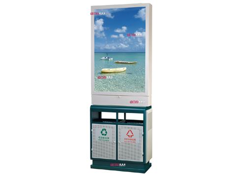 型号:ZZRS-5506 广告垃圾桶880 350 2200mm