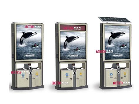 型号:ZZRS-5511广告垃圾桶 1170 420 2160mm