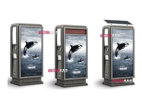 型号:ZZRS-5512 广告垃圾桶 1140 558 2160mm